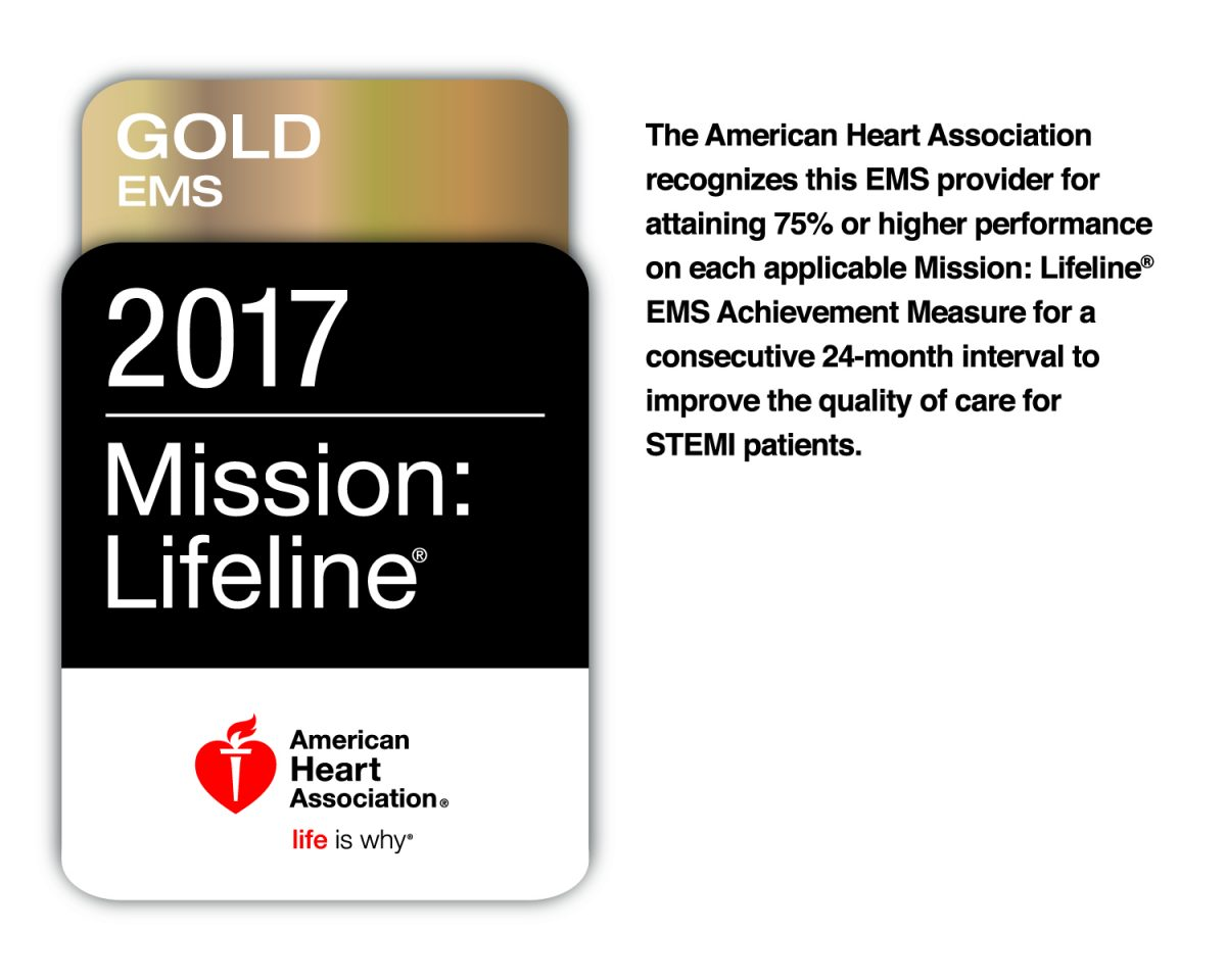 VBEMS Receives 2017 Mission: Lifeline Gold EMS Award!