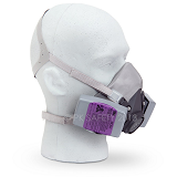 Elastomeric respirator with cartridges