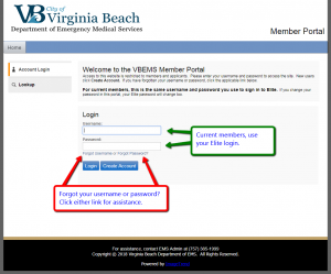 Login to the Member Portal